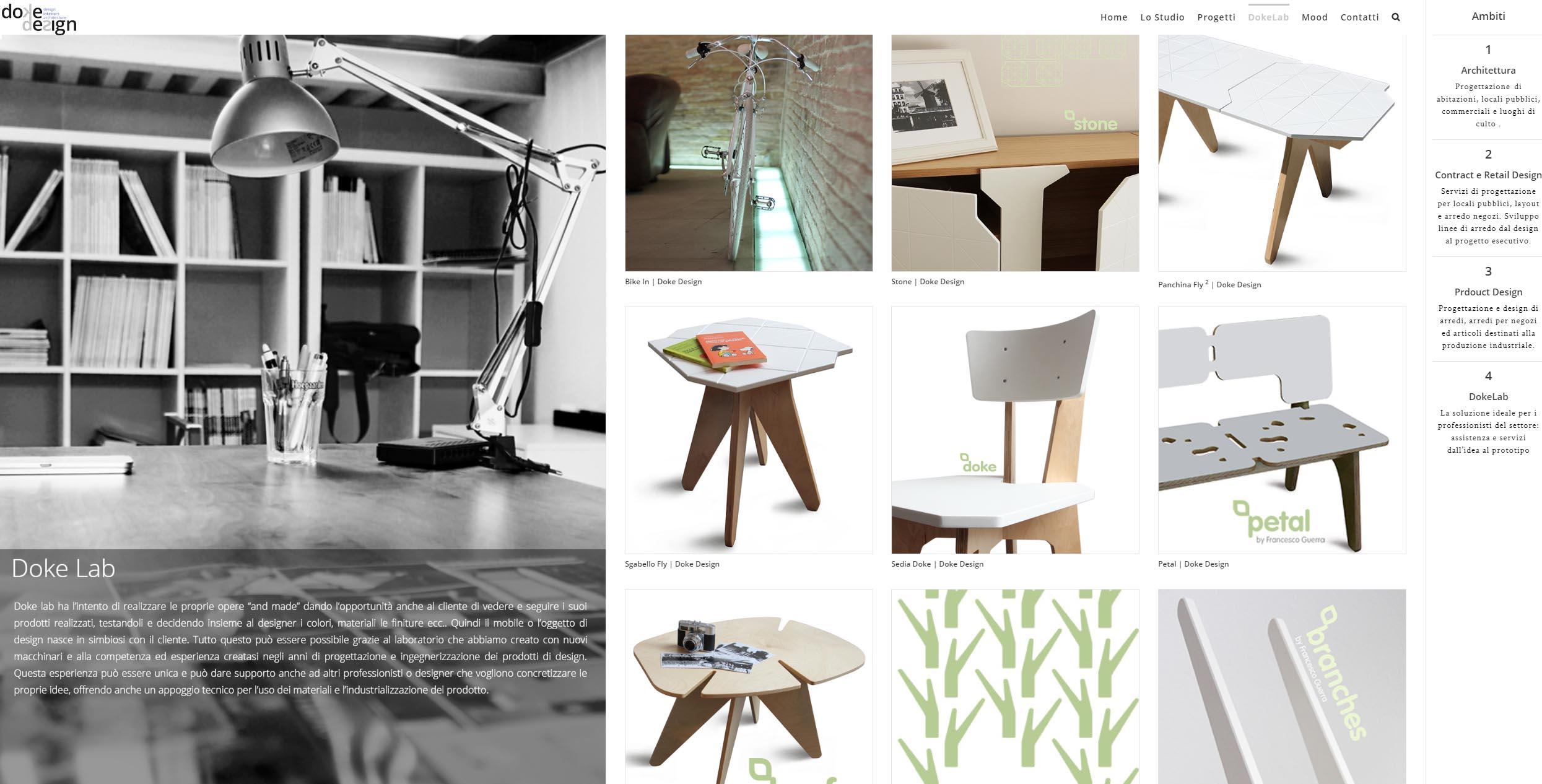 Realizzazione siti internet| Redlab per Doke Design